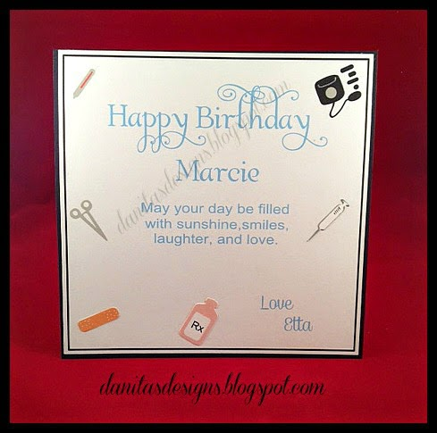Danitas designs nurse birthday card i think its perfect for happy birthday bookmarktalkfo Images