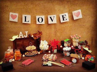 Candy bar o mesa de dulces personalizado para bodas