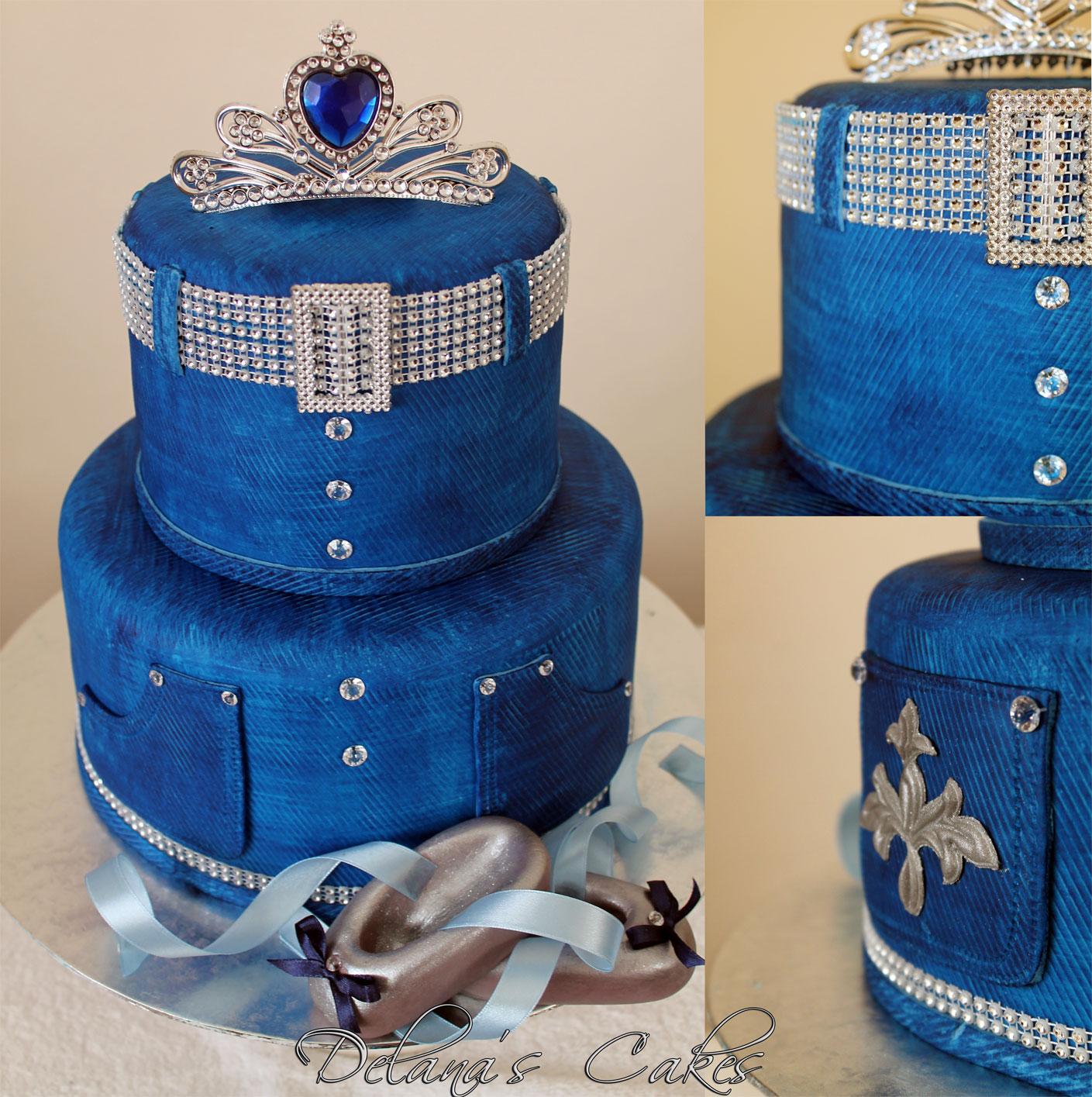 Delanau0026#39;s Cakes Denim and Diamonds Cake