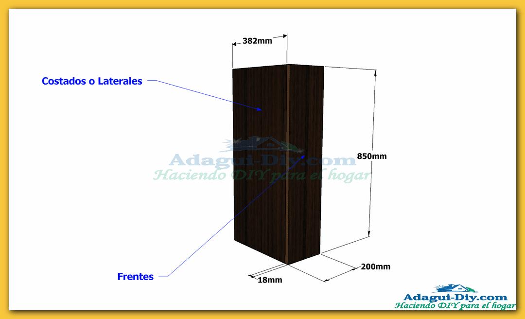 Mueble recibidor de melamina hall furniture diy adagui for Como fabricar muebles de melamina pdf
