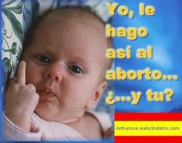 ¡No al aborto!