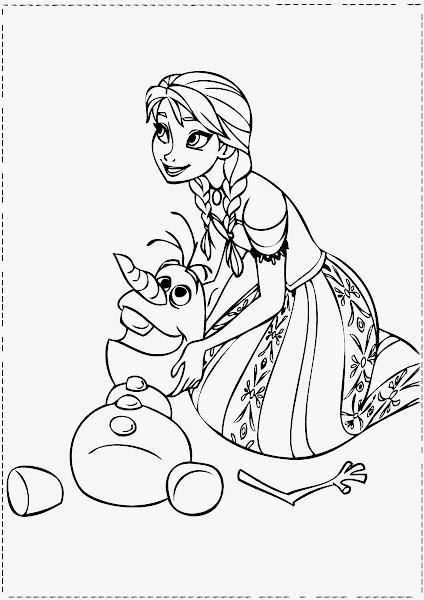 Queen Elsa Frozen Colouring Pages