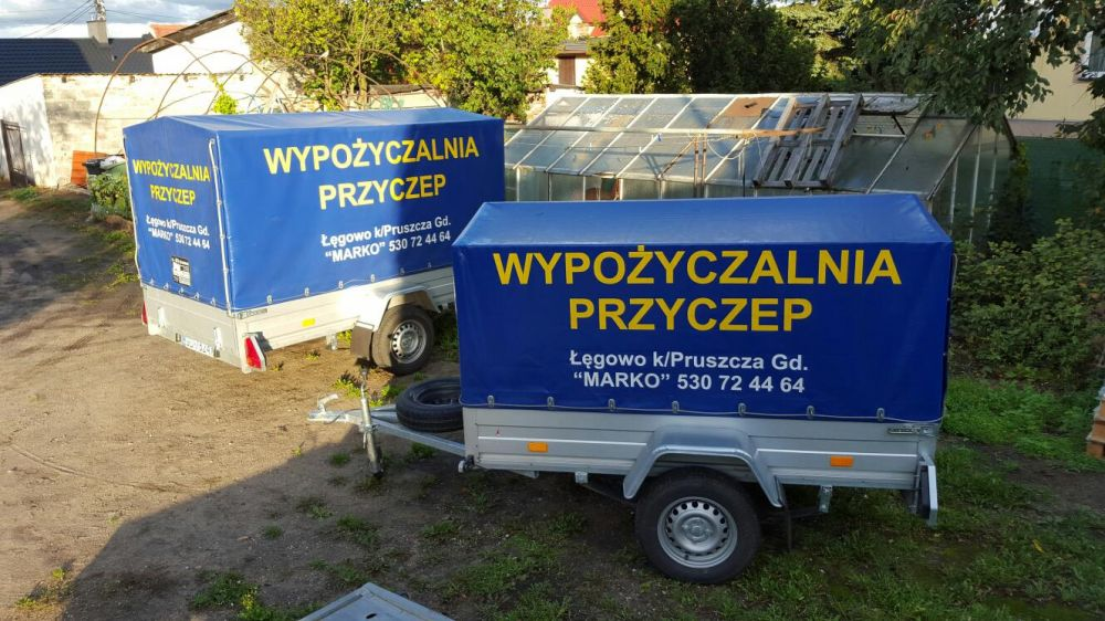 Wypożyczalnia Przyczep oraz lawet w Gdańsku