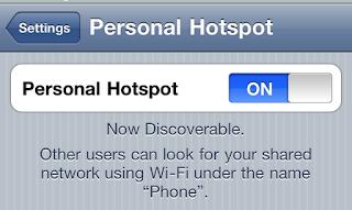 Personal Hotspot di iPhone