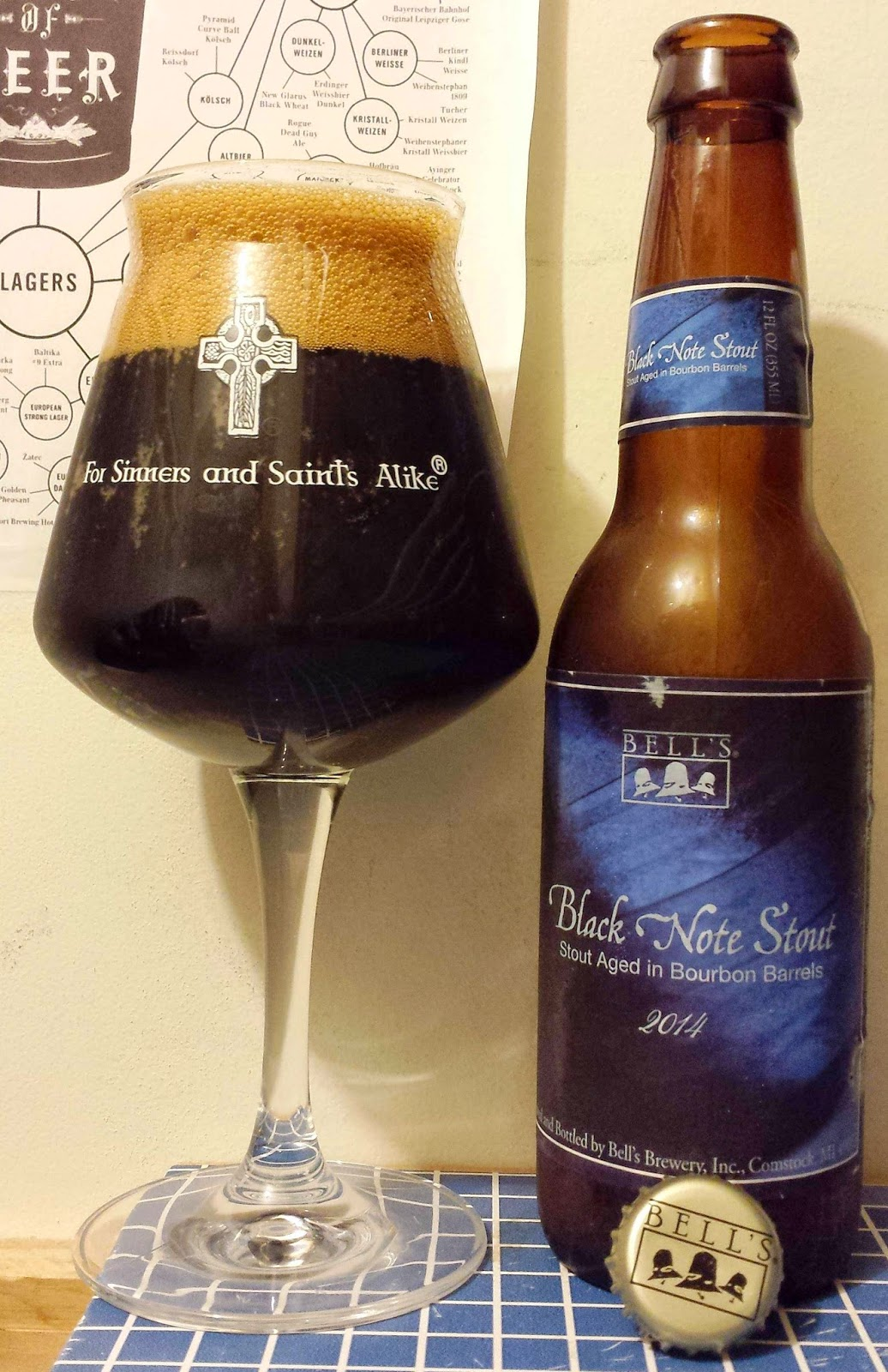 Black Note Stout >> Not Another Beer Review Bell S Black Note Stout Vintage 2014