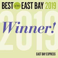 We won 'Best of the East Bay' 2019 for the 10th Year!
