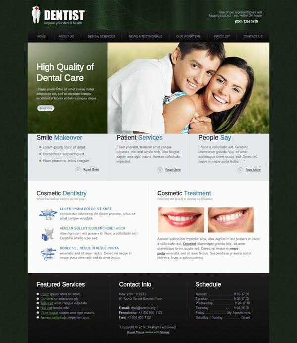 Dentist - Free Drupal Theme
