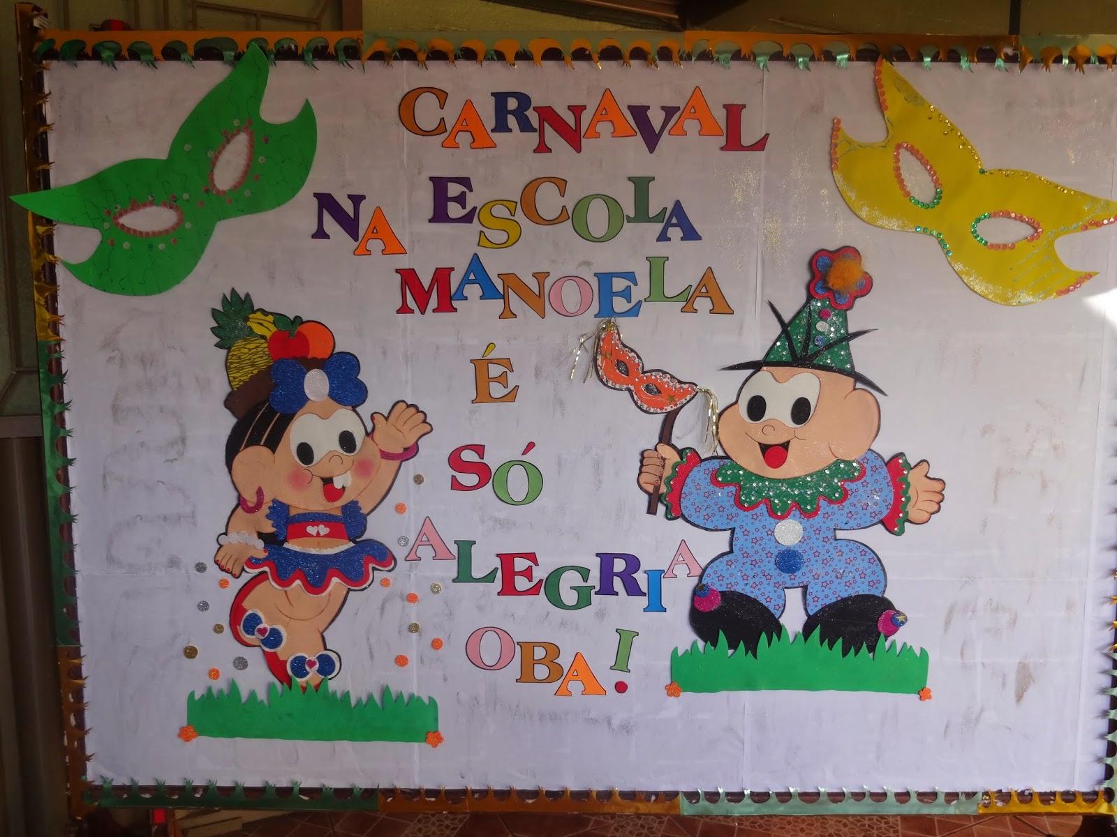 Cria es em e v a painel escolar de carnaval for Mural de fotos 1 ano