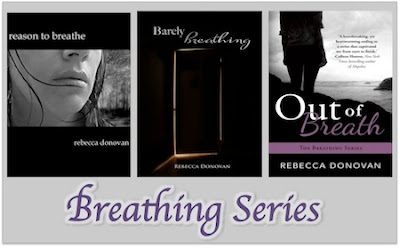 bookcovers for THE BREATHING series by Rebecca Donovan