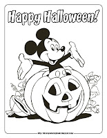 halloween coloring pages mickey mouse pumpkin