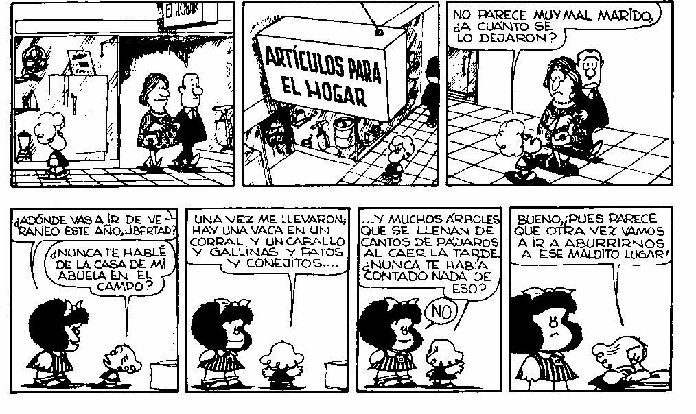 SCHULART: Trabajo 6: Colorear cómic Mafalda (Adobe illustrator)