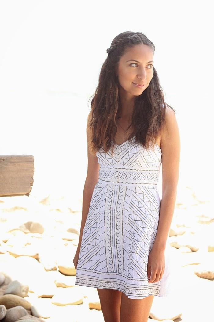 white eshakti dress