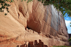 White House Ruin in the Wingate Sandstone  of Canyon de Chelly near Chinle, Arizona