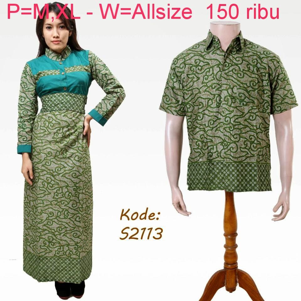 Model Baju Batik Pasangan Muslim Modern Terbaru 2014