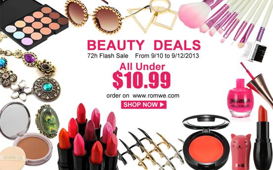Beauty Deals Sale at Romwe!