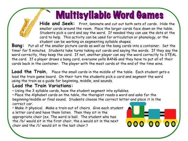 Decoding Multisyllable Words Worksheets
