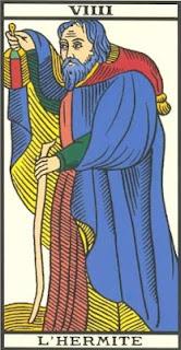 Arcano 9: O Ermitão/ Eremita, carta do tarô, tarot, baralho de marselha