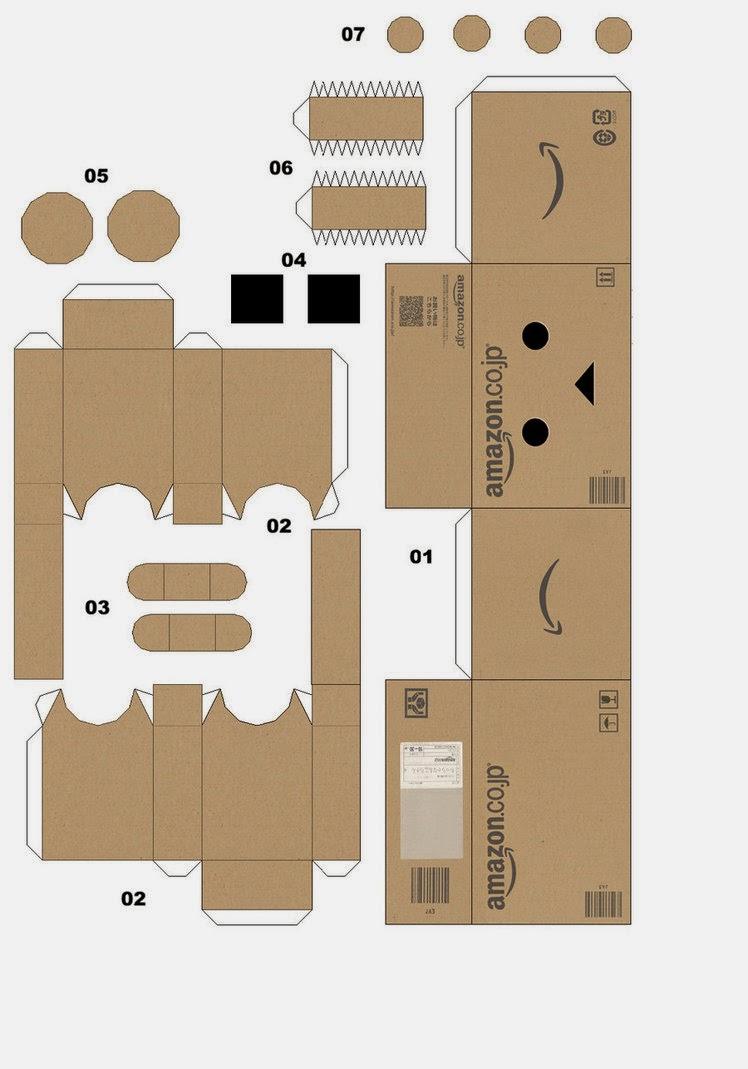Template Danbo Papercraft