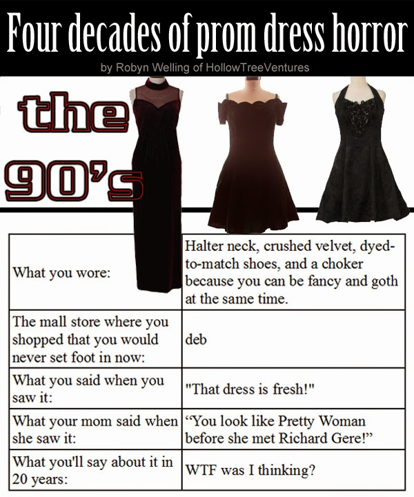 prom dresses through four decades - the 90s by Robyn Welling @RobynHTV