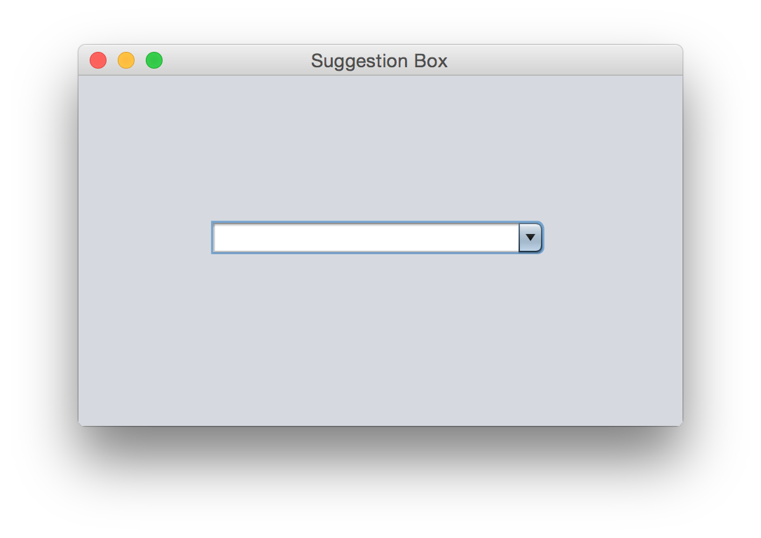 Amilas blog tips for making a suggestion box using java the first this we have to enable the editing mode in jcombobox then we have to assign a keylistener to give suggestion when user type any phrase on the baditri Image collections