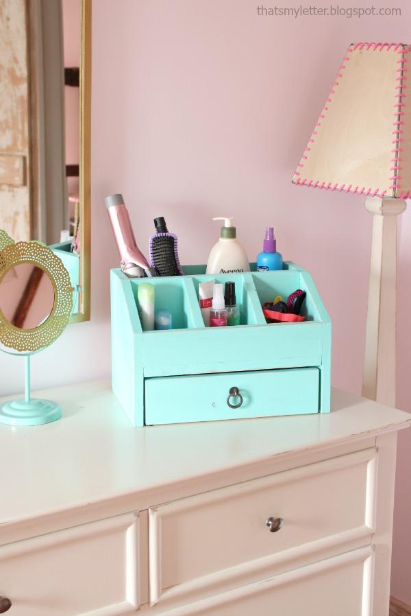 diy desktop organizer with drawer