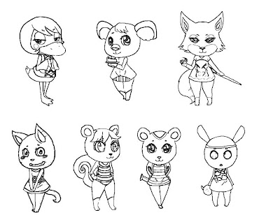 #2 Animal Crossing Coloring Page