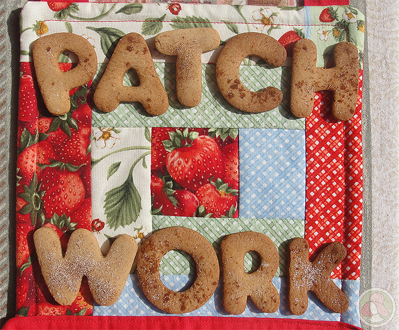 Delantal de cocina de patchwork