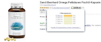 Sanct Bernhard Fischölkapseln mit Omega-3