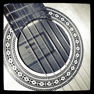guitar photo taken with instagram