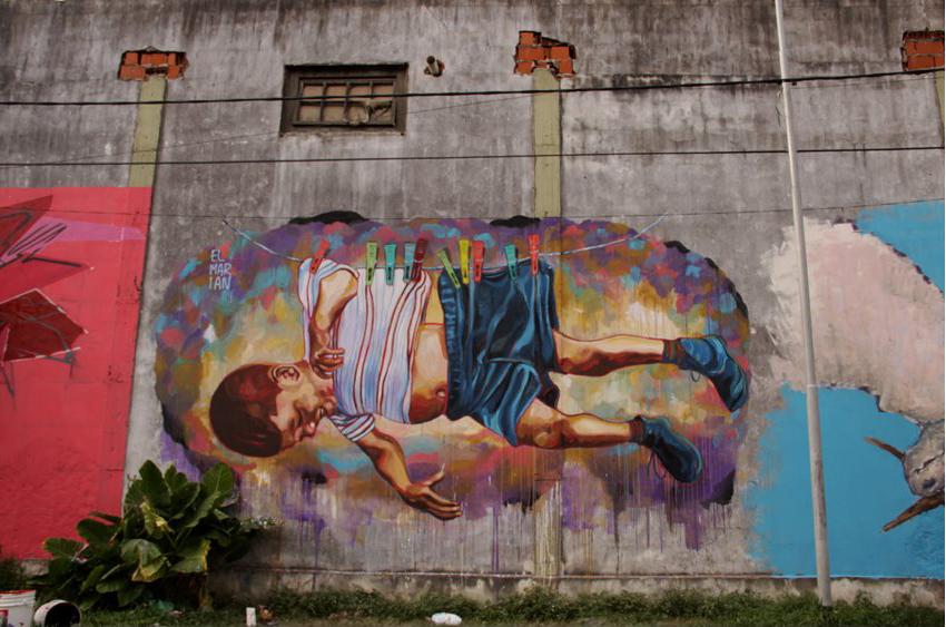 Streetartnews es el marian nuevo mural en buenos aires for El mural pelicula argentina