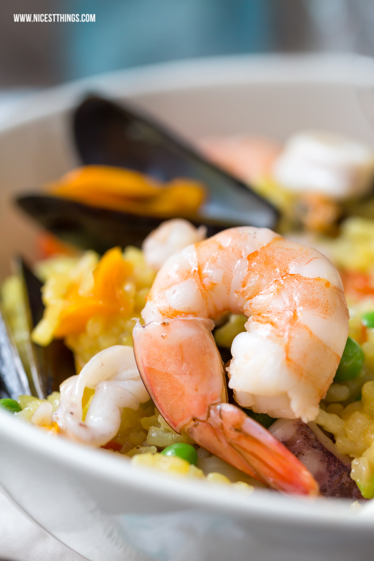 Paella Rezept einfach Meeresfrüchte Garnelen Muscheln #paella #rezept #meeresfrüchte #miesmuscheln #garnelen #seafood #reis