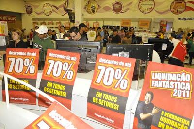LIQUIDAÇÃO FANTÁSTICA MAGAZINE LUIZA 2013