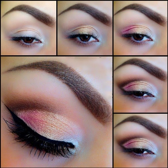 Wedding Makeup Tutorial : Beautiful Bridal Eyes Makeup Tutorial - 2015 New Looks - B ...