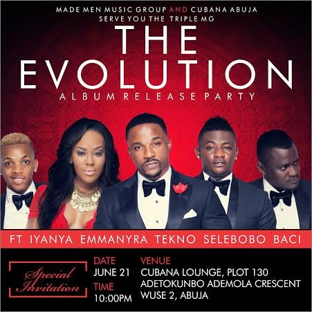 The Evolution Album: Abuja release party is today Saturday June 21