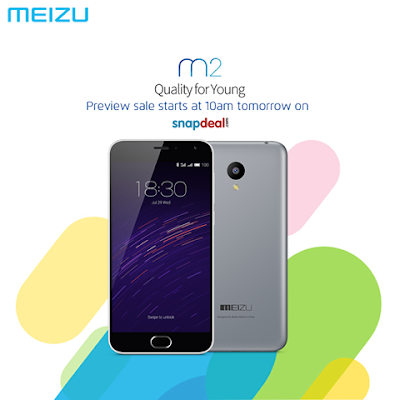 Meizu m2 to be available in open sale on Snapdeal beginning today