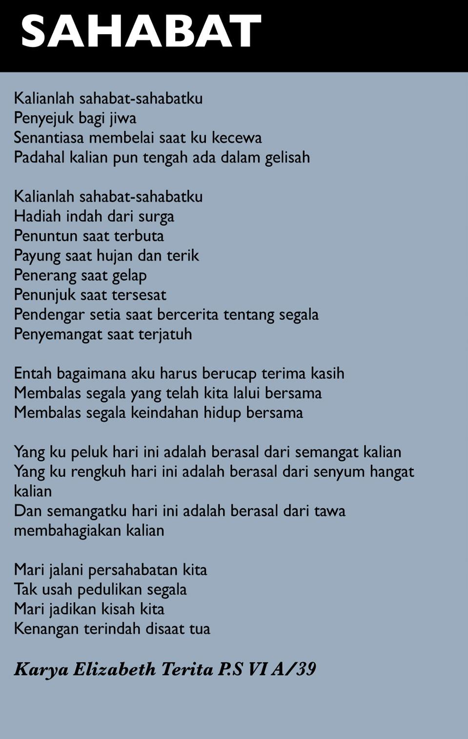 Kumpulan Puisi Pendek