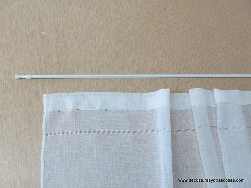 De costuras y otras cosas el visillo mas sencillo que existe - Como hacer visillos ...