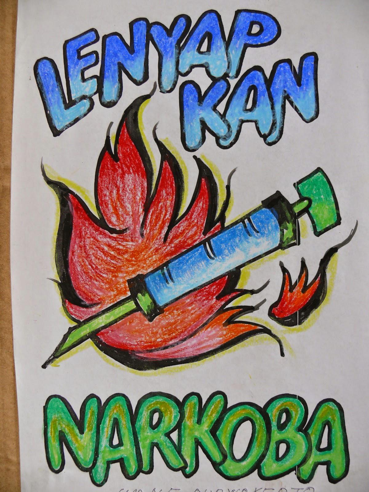 pameran poster kartun dan penyuluhan bahaya narkoba untuk