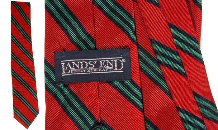 Lands End tie in red, green, and navy