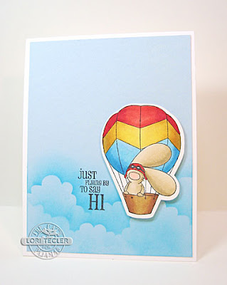 Kist Flying by to Say Hi card-designed by Lori Tecler/Inking Aloud-stamps from The Cat's Pajamas
