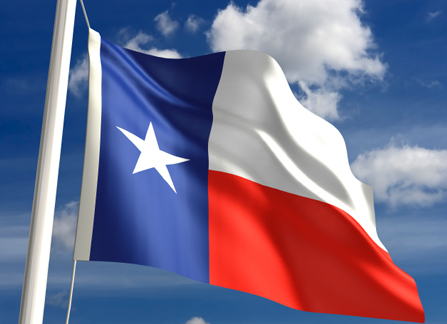 texas flag flying