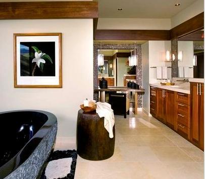 Ba os modernos dise o interiores de casas Diseno de interiores de banos modernos