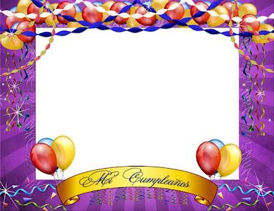 Marco digital para adornar tus fotos de cumpleaños