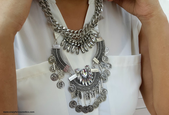 silver layered bohemian necklace from lovisa
