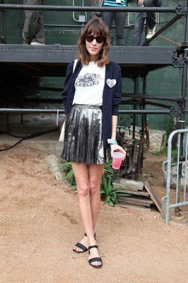 Alexa Chung Festival Style Black Sandals