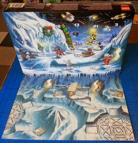 LEGO Star Wars Advent Calendar 2014 daily reveal fold out backdrop