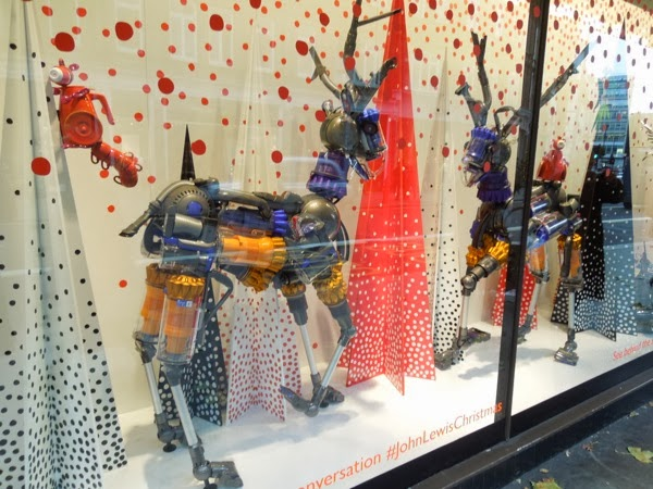 Dyson reindeer Peter Jones Christmas window display