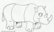 Desenho de rinoceronte para pintar. Desenho de rinoceronte para imprimir e .