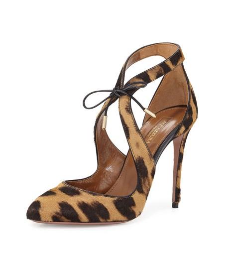 Aquazzura Leopard print high heels