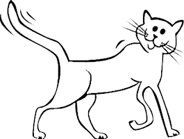 Cartoon Cat Coloring Pages Printable
